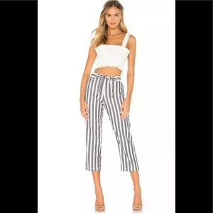 SANCTUARY Sasha Striped Crop Pants Blue 26